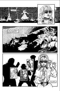 A page of JLD's artwork for Helen Killer